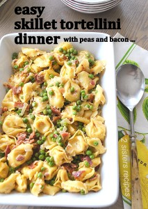 Easy Skillet Tortellini Dinner by 2sistersrecipes.com