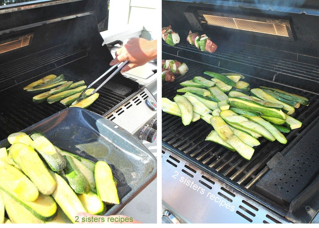 How to Grill Zucchini by 2sistersrecipes.com