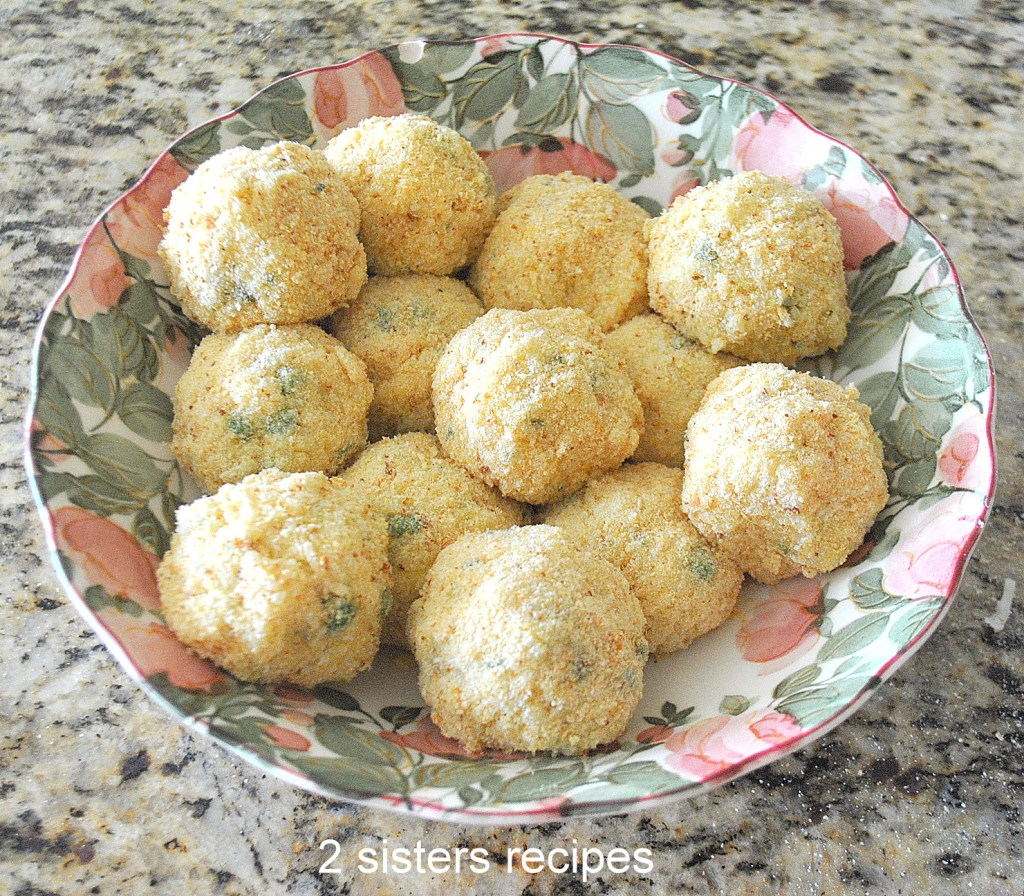 Rice balls in a bowl by 2sistersrecipes.com