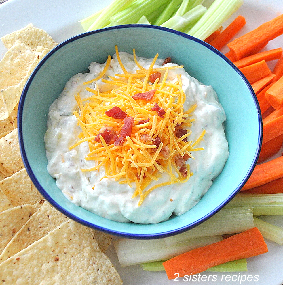 Everything Baked Potato Dip by 2sistersrecipes.com