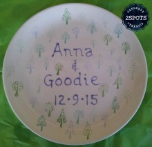 Commissioned Wedding Plate