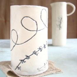Textured Vase & Olive Oil Jug