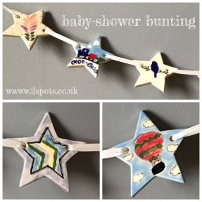 Baby Shower Bunting - each star made by a different person as a gift for the new baby