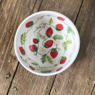 Hen Party hand-drawn strawberry bowl