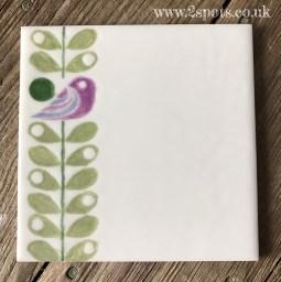 Bird and Leaf Tile