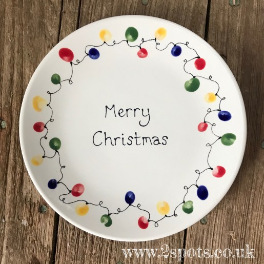 Fingerprint Fairylight Plate