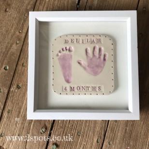 Framed Stamped Purple Imprint