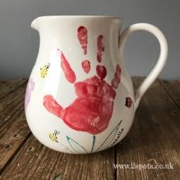 Handprint Flower Jug