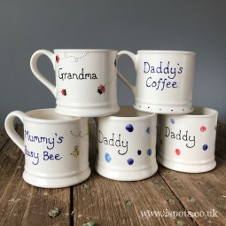 Personalised Mugs with Toeprint Decorations