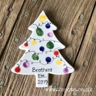 Brothers fingerprint Christmas Tree