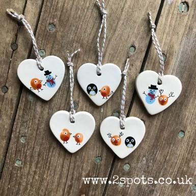 Christmas decoration hearts