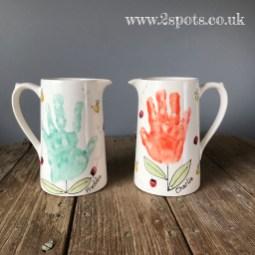 Handprint Jugs