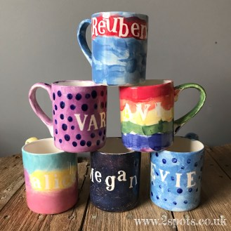 Painted Mug Stack 1