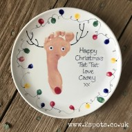 Reindeer footprint plate with fingerprint faitylights