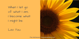 Lao Tzu quote with yellow sunflower