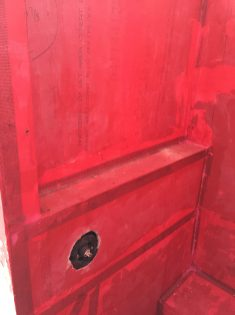During - Large ledge inside shower - Red-guard sealed