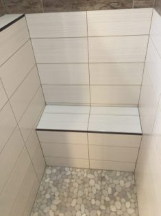 After - Large in-shower seat