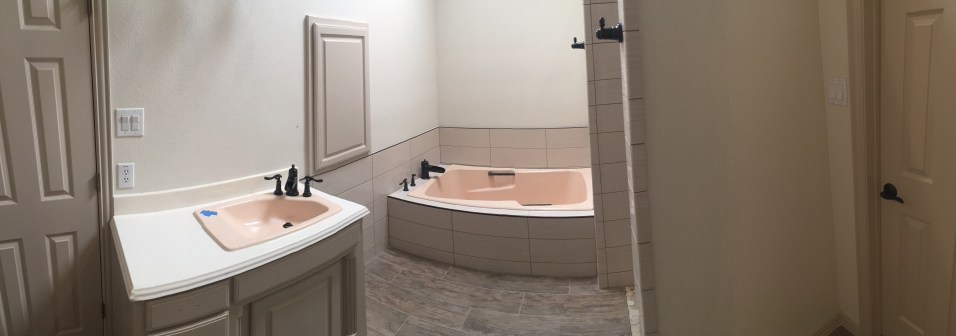 After -- Tile / Wall / Floor / Fixtures come together