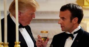 Donald Trump (à g.) et Emmanuel Macron, à la Maison Blanche, le 24 avril 2018. REUTERS/Carlos Barria