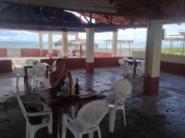View of the beach from Benny's