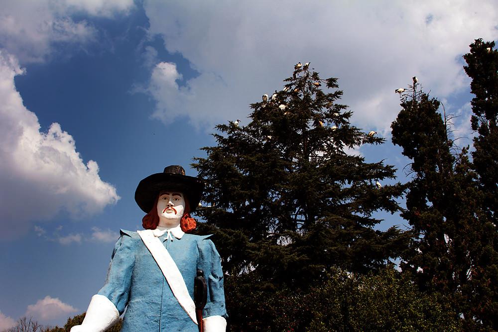 Jan Van Riebeeck statue at Santarama Miniland