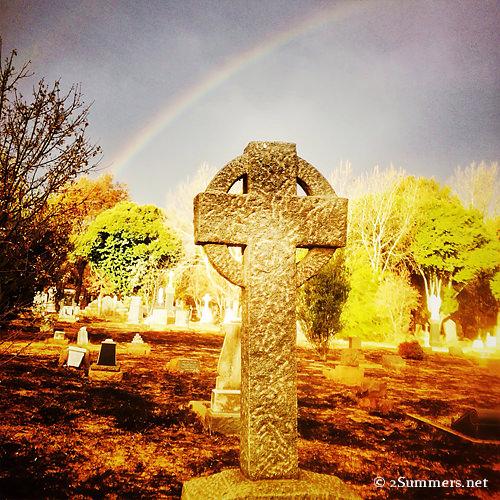 Cross and rainbow
