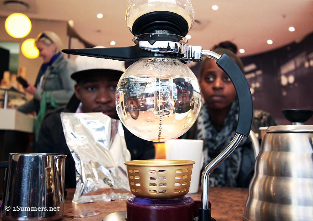 Vacuum brewing at Cramer's Coffee