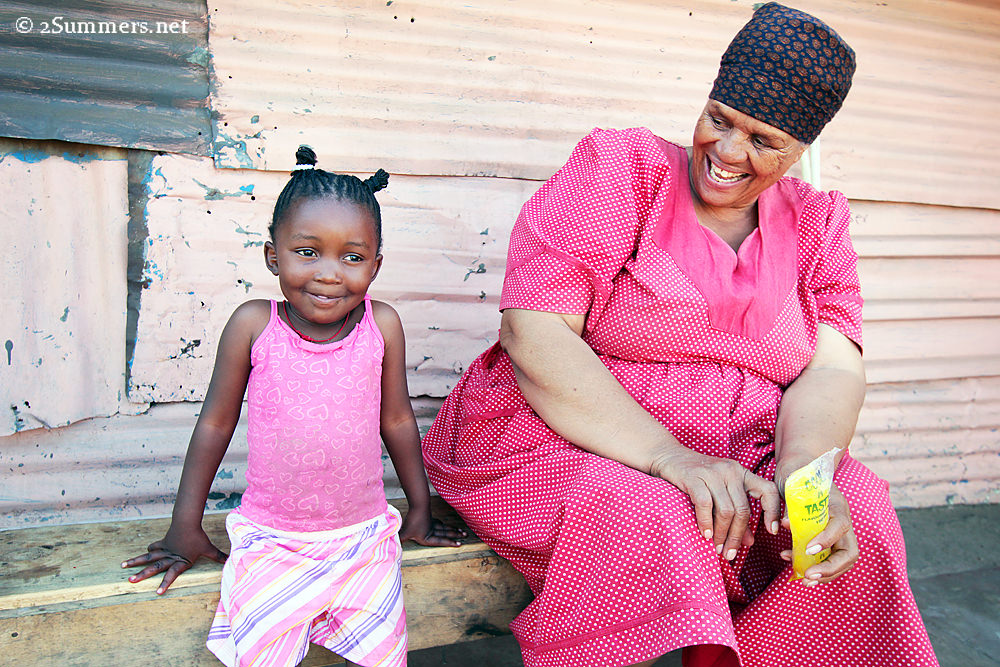 Girl and grannie in Kliptown