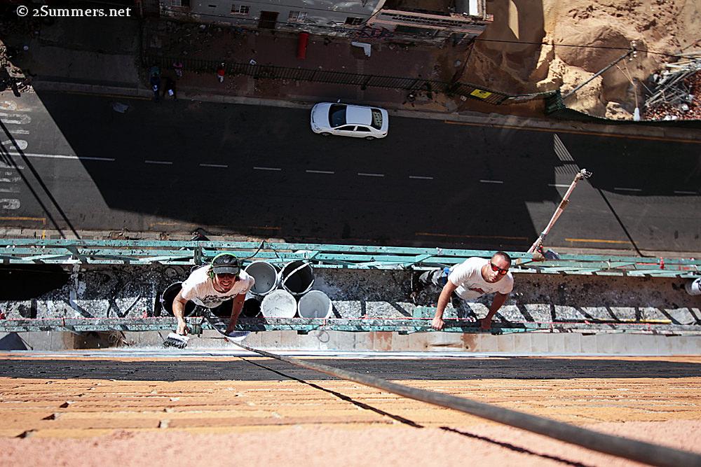 Madiba mural looking down