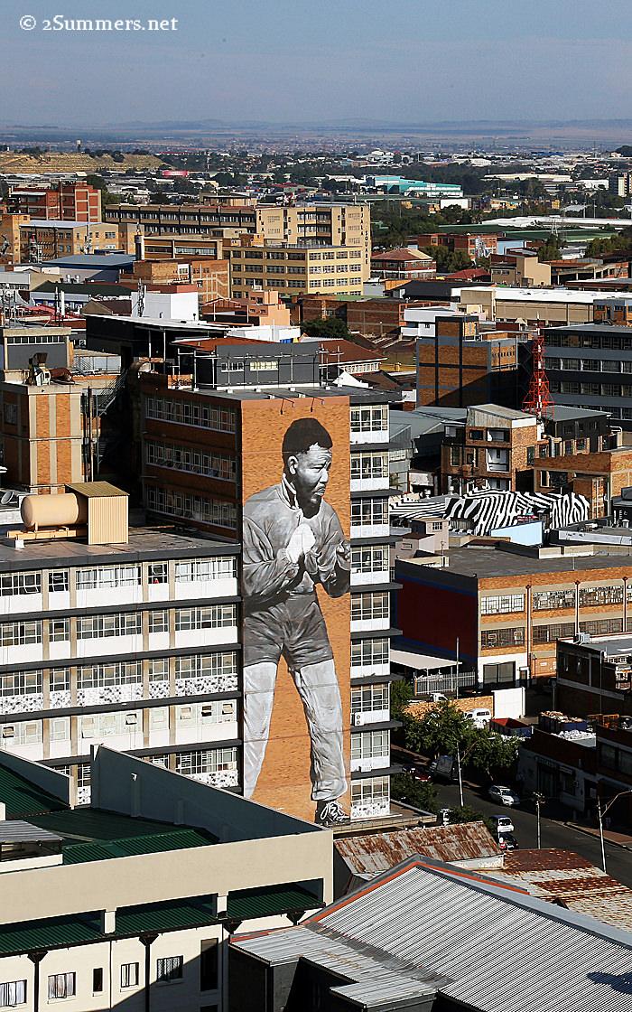 Jozi view - Mandela mural daytime