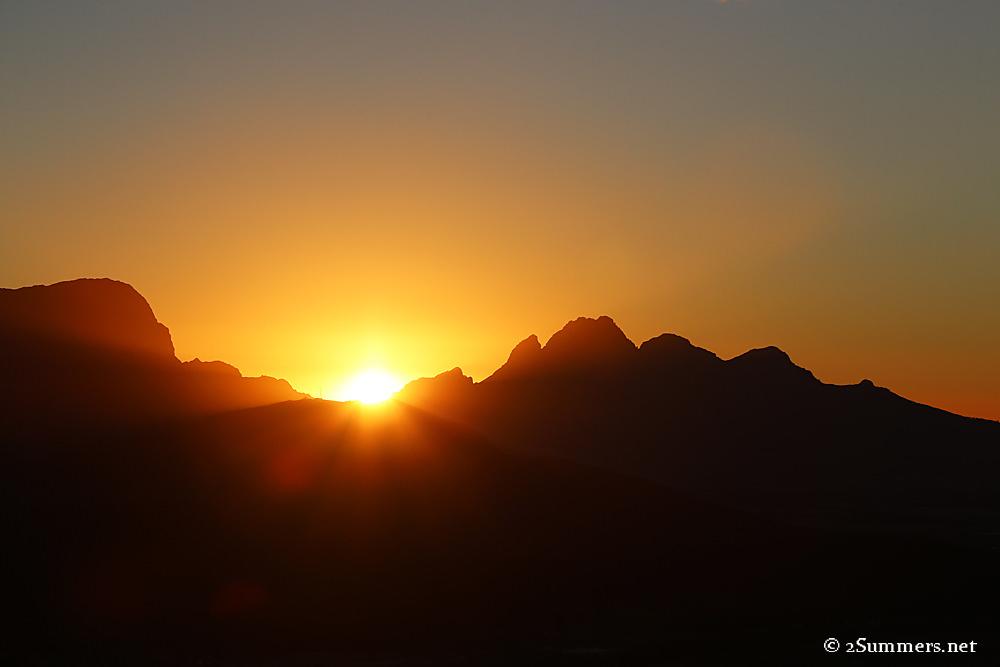 Franschhoek sunset