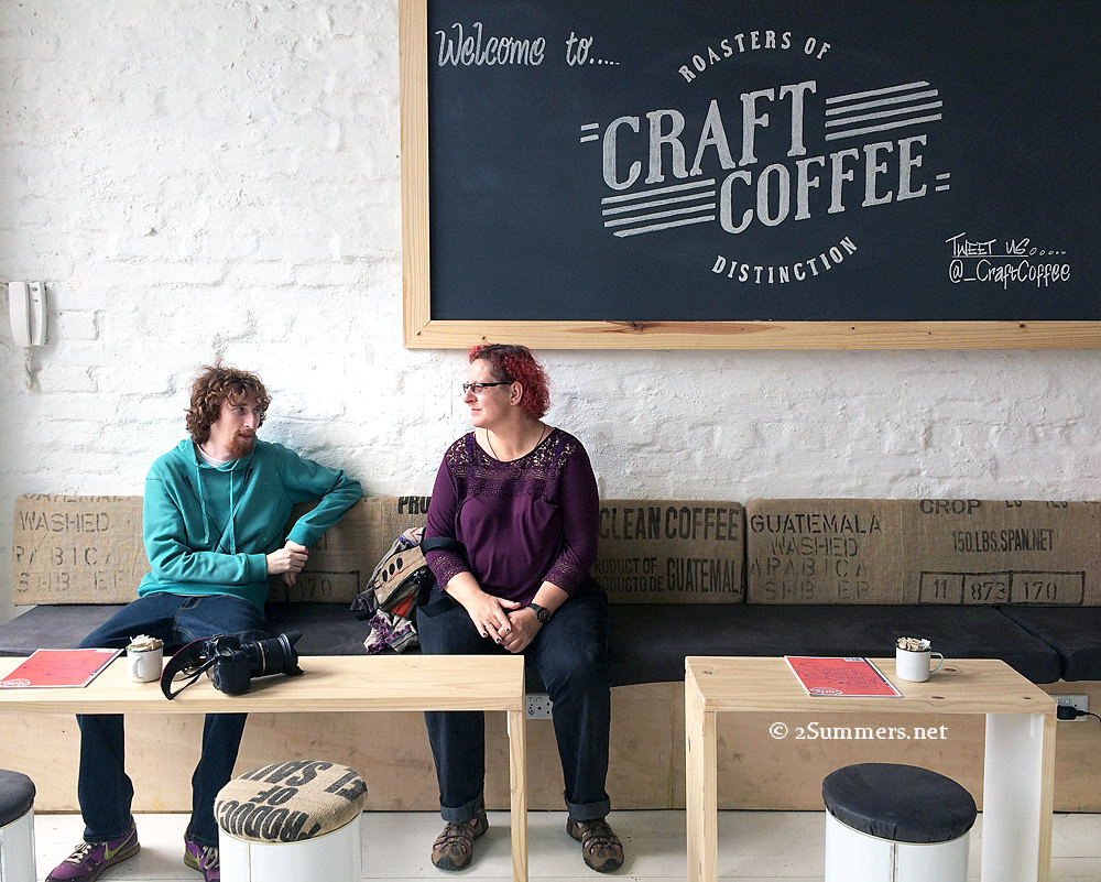 Ray and Fiver in Craft Coffee