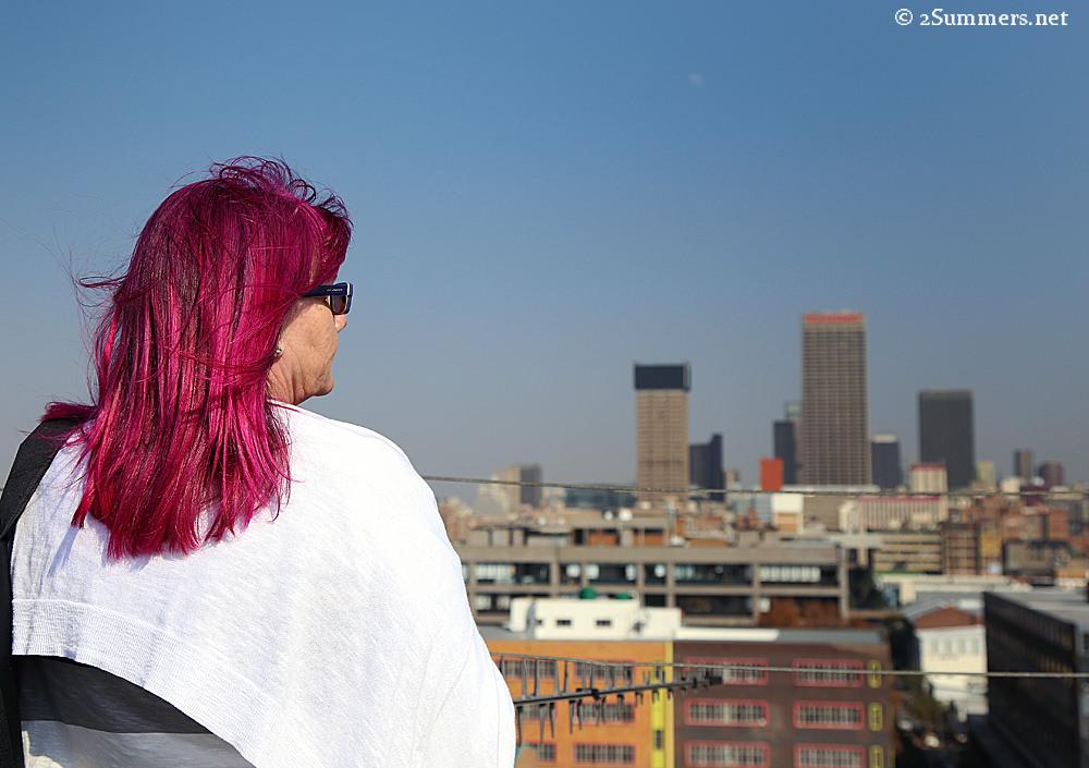 Gail Scott Wilson overlooking Joburg
