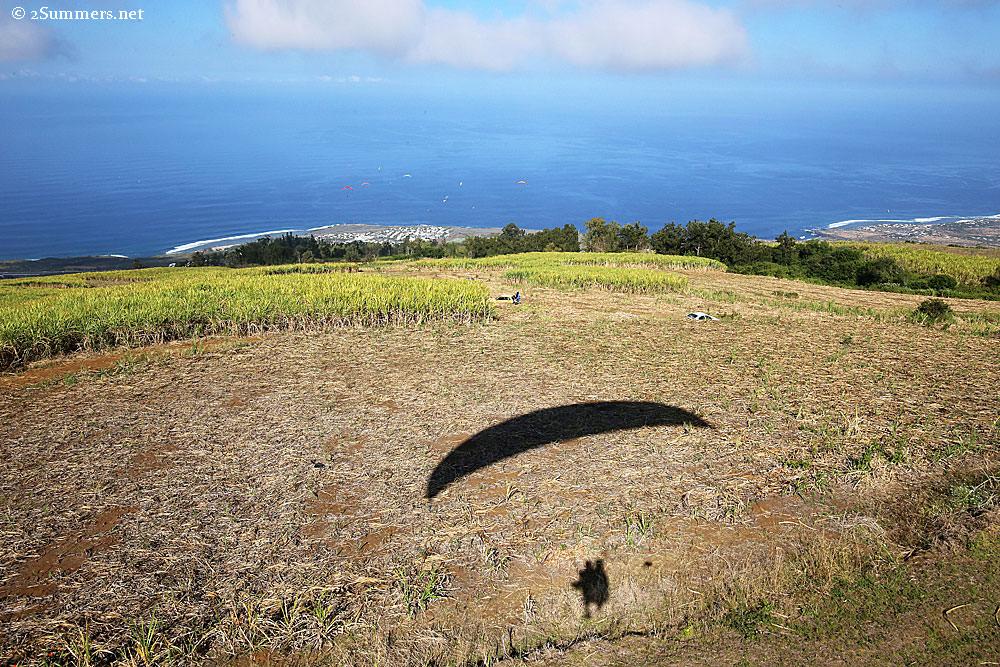 Paragliding-shadow
