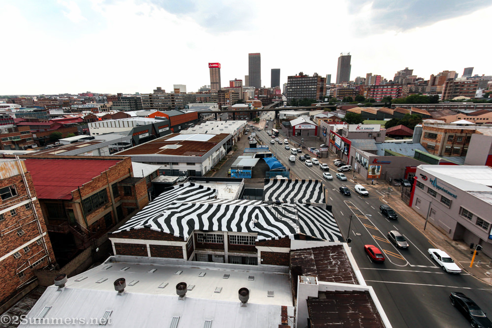 Joburg skyline from Artisan Lofts