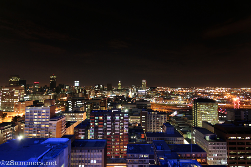 Joburg skyline from Orion Braamfontein