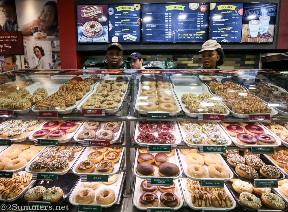 Donut spread at Krispy Kreme