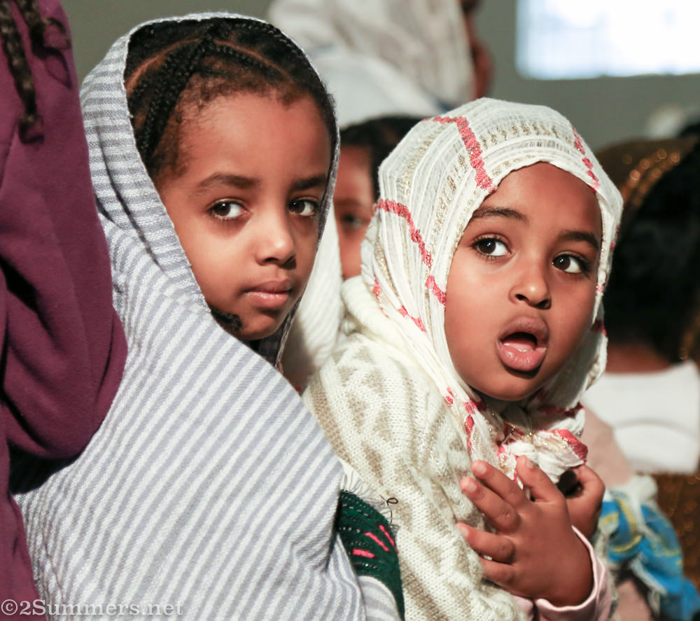Kids waiting for communion at Ethiopian Orthodox Church