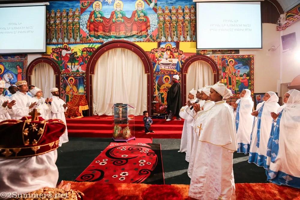 Inside Ethiopian church