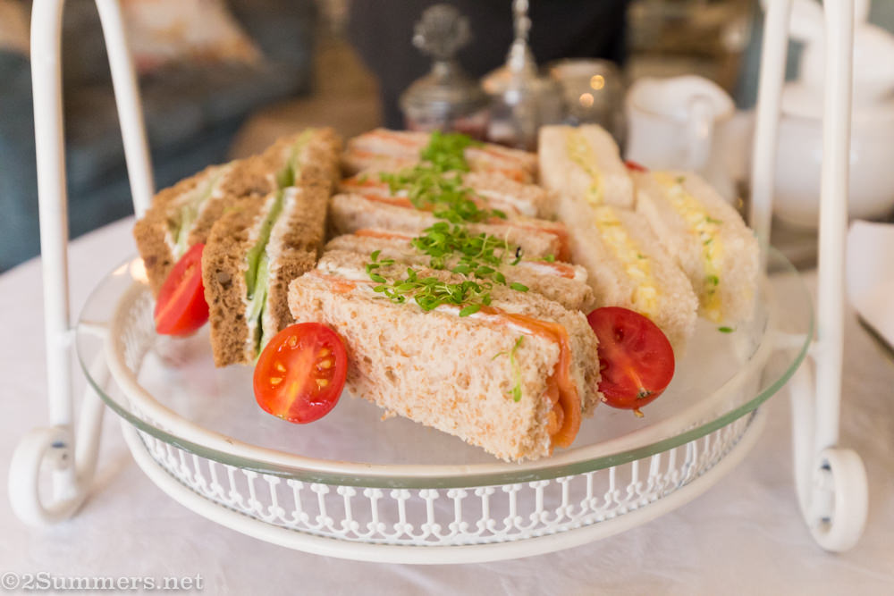 tea sandwiches at Fairlawns