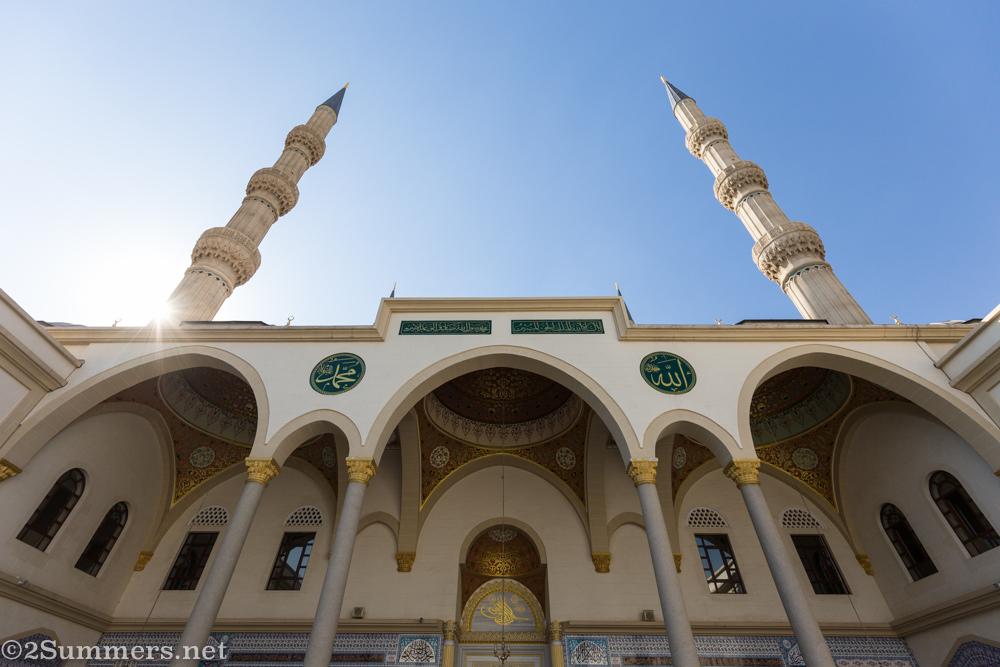Nizamiye Mosque minarets