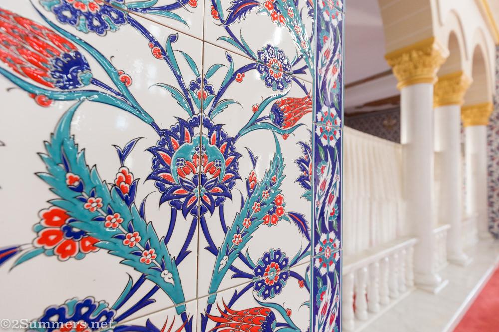Tiles in the Nizamiye mosque