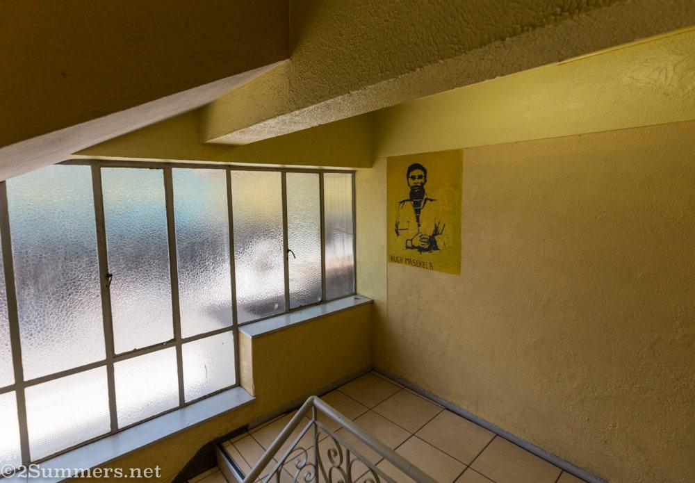 Hugh Masakela picture in Dorkay House