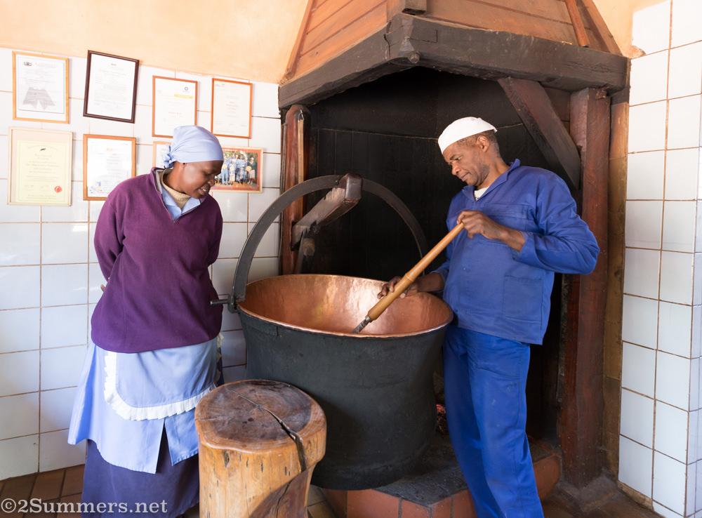 Gloria and Francisco at Weggraakbosch Dairy