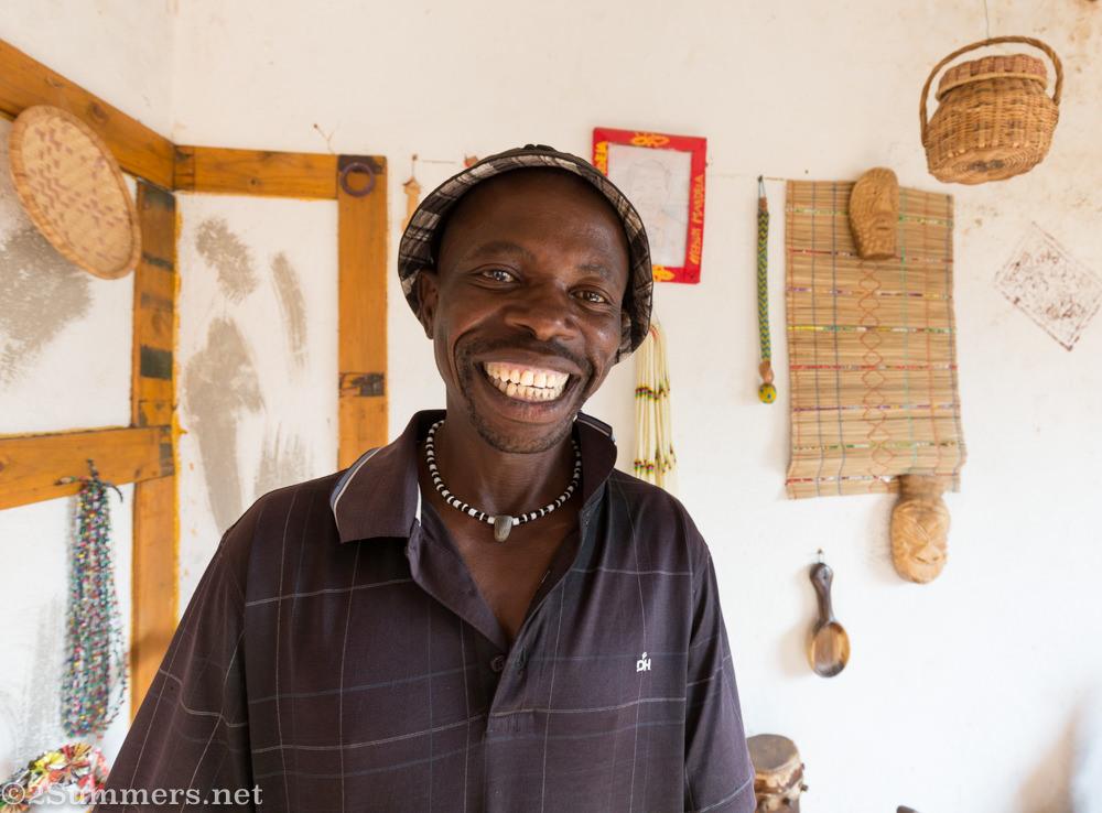 Lucky Ntimani in his studio