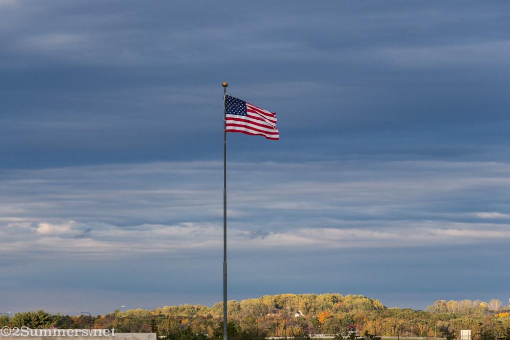 American flag at Dulles Airport