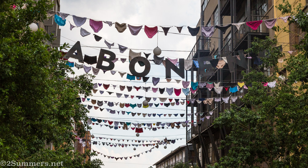 Underwear in Maboneng