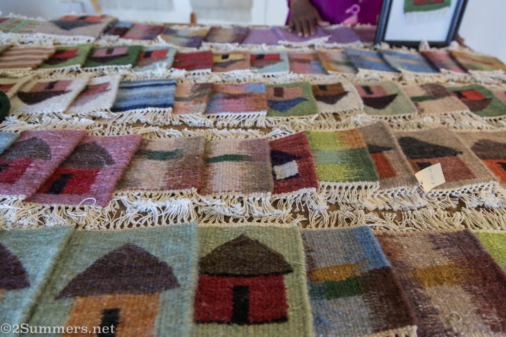 Woven mats from Elelloang Basali