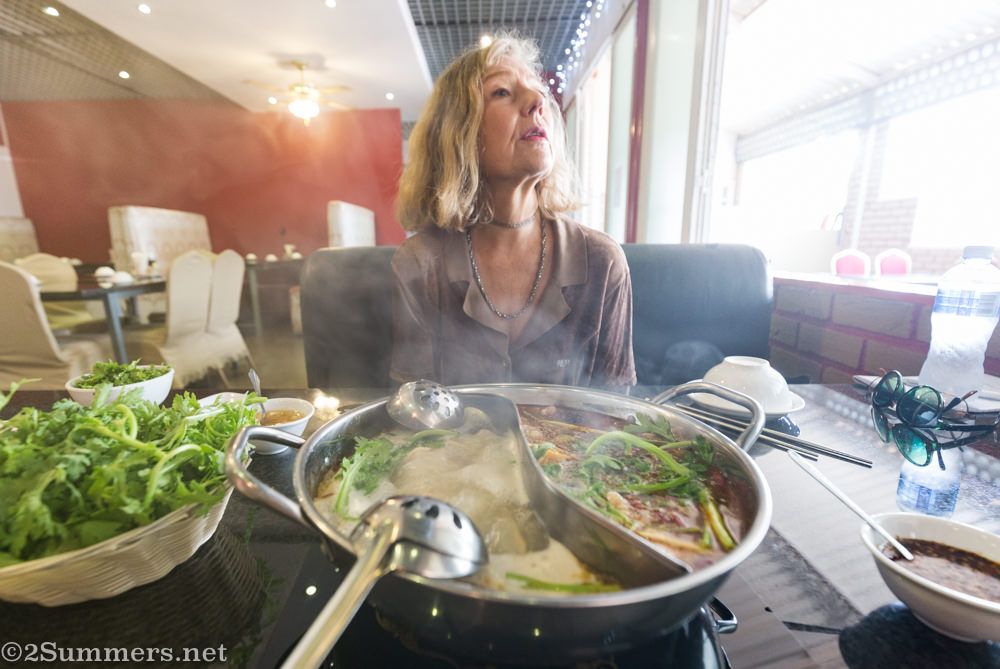 Marie-Lais and hot pot steam
