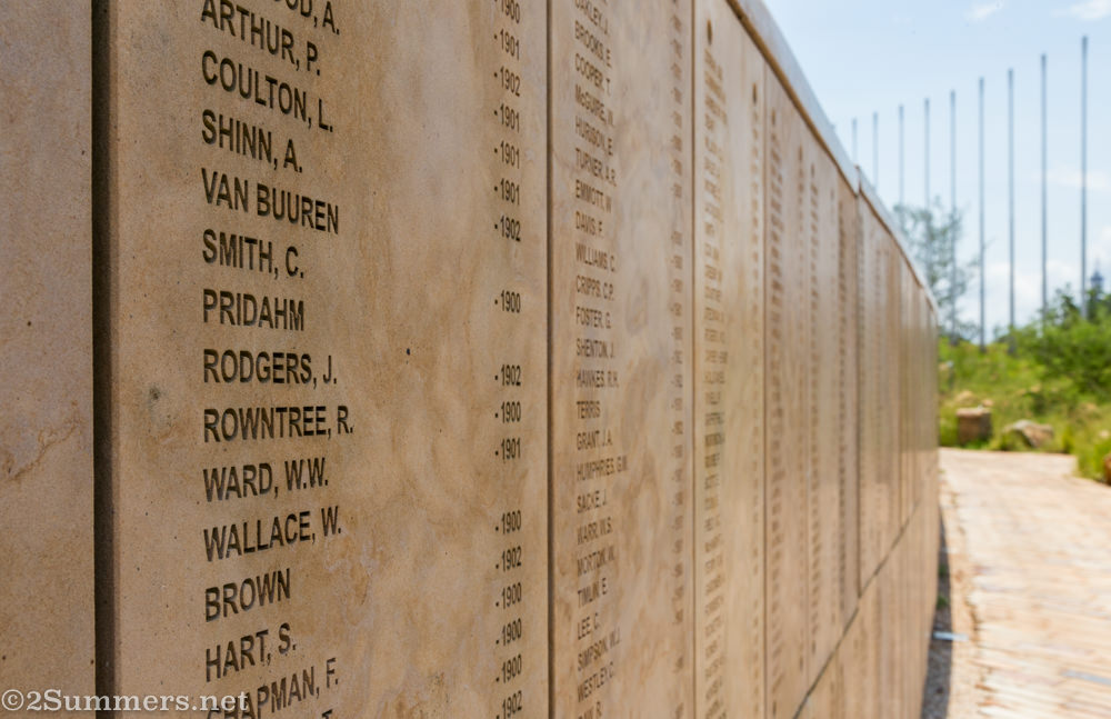 Freedom Park Wall of Names